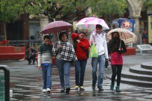Con lluvia y frio el primer d'a del a–o 2013 en el centro de Guadalajara, en imagen calandria. Foto: HŽctor Jesœs Hern‡ndez