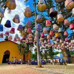 Lámparas hechas con telares lencas, hermoso atractivo en la ciudad de Gracias, Lempira