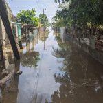 Algunas aldeas en el municipio de Puerto Cortés siguen bajo el agua