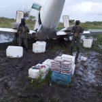 Tras enfrentamiento a disparos, militares aseguran narcoavioneta en La Mosquitia