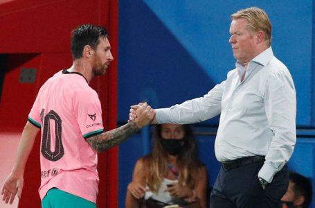 Koeman habló sin filtro sobre el futuro de Messi y apuntó contra el presidente interino del Barcelona