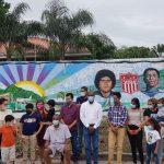 La Ceiba inaugura bonito mural artístico en una de sus avenidas