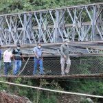 Instalación de puente Bailey en Santa Bárbara lleva 95 % de avance