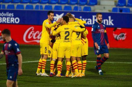 Barcelona gana al Huesca y arranca el 2021 con un triunfo