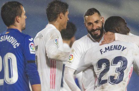 El Real Madrid derrotó 2-0 al Getafe y recupera su pelea en LaLiga