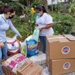 Unión Nacional de Personas Ciegas en El Progreso reciben ayuda alimentaria de LOTO