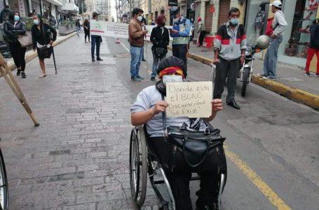 Sector discapacidad protesta por reducción al presupuesto asignado y otros derechos