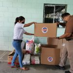 Sector discapacidad en San Pedro Sula recibe donación de alimentos por parte de LOTO