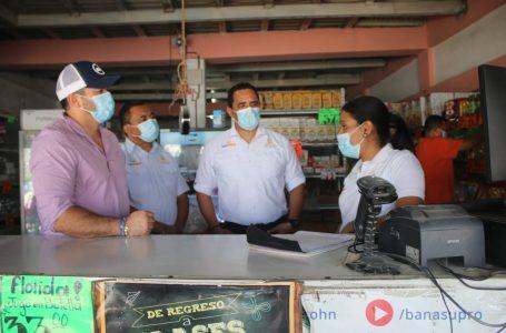 Autoridades de Banasupro realizan gira de supervisión de puntos de venta