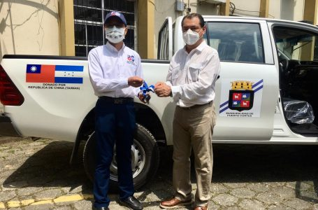 Taiwán dona vehículo a Alcaldía de Puerto Cortés; que beneficiará a la población