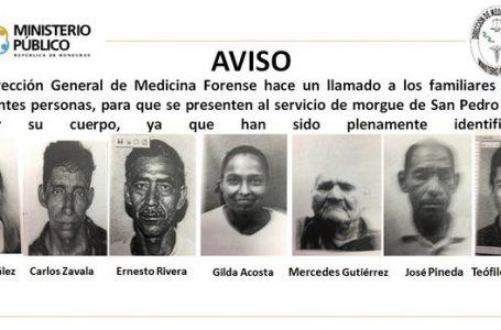 Siete cadáveres de personas no reclamados permanecen en la Morgue de San Pedro Sula