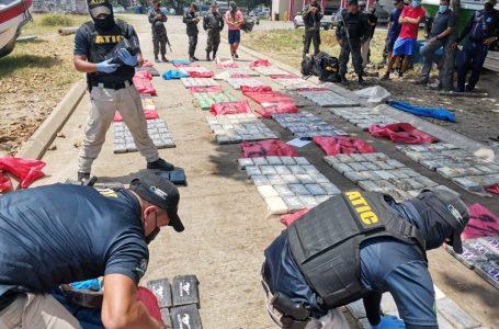 Un total 739 kilos de cocaína contabilizan en decomiso de lancha en el Caribe hondureño