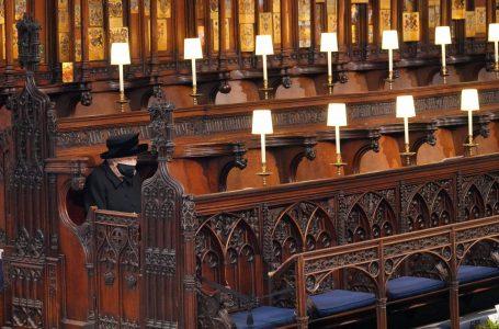 La reina Isabel II despidió a su esposo, el príncipe Felipe, en una sobria ceremonia
