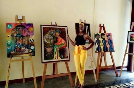 Cultura garífuna reflejada en las obras de la joven artista Sarahí Quevedo