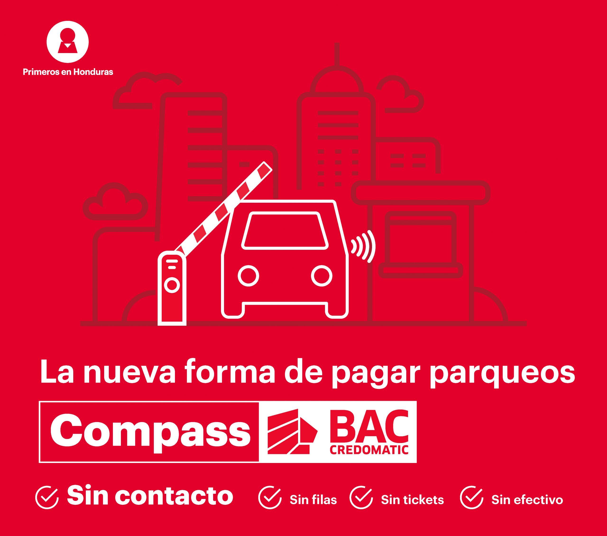 BAC presenta «Compass», su calcomanía inteligente para el pago de estacionamientos