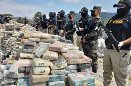Unos 9 mil kilos de droga se han incautado este añoen Honduras
