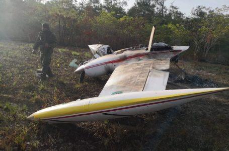 Aseguran supuesta narcoavioneta tras estrellarse en Brus Laguna, Gracias a Dios