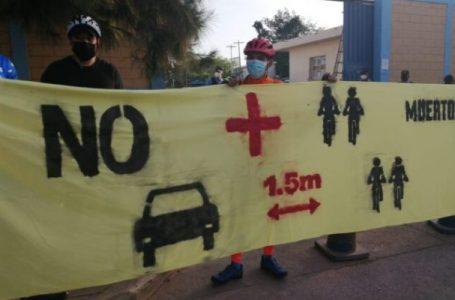 Ciclistas realizan manifestación debido a alta tasa de muertes