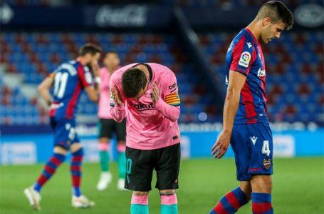 El Barcelona empata ante el Levante y estaría despidiéndose de LaLiga