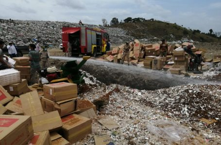 Destruyen 5 millones de cigarrillos de contrabando en el país