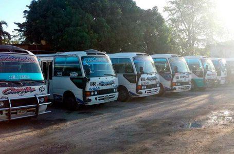 Conductores paralizan unidades en la zona norte del país por cobro de extorsión
