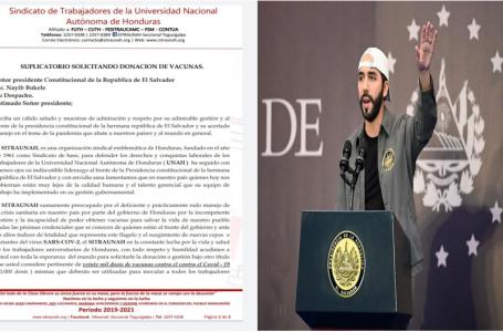 Sitraunah se suma a los grupos que solicitan vacunas a El Salvador