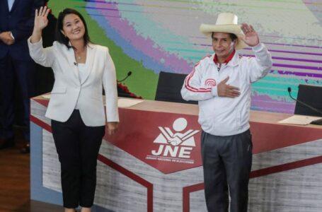 Castillo reduce distancia con Keiko Fujimori con 91.69% de actas contabilizadas en elecciones de Perú