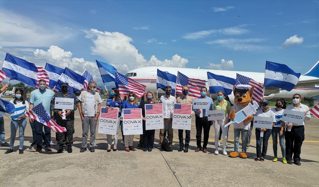 Honduras recibió 1.5 millones de vacunas contra la COVID-19 donadas por EE.UU.