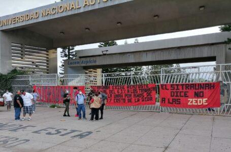 Sitraunah protestan para exigir reajuste salarial del 6.1% e inmunización contra Covid-19