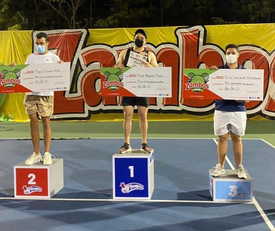 Con gran éxito finalizó el Torneo de Tenis Zambos Open