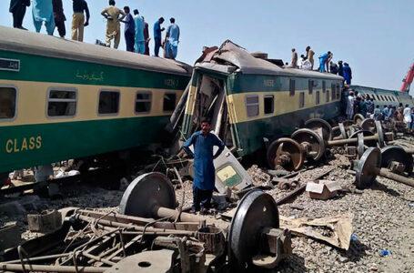 Accidente de tren en Pakistán deja unos 40 muertos y más de 60 heridos