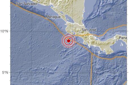 Se reporta un fuerte sismo de magnitud 7 en el Pacífico sacude Costa Rica