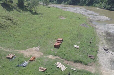 Neutralizan estructura utilizada para tráfico de madera en biosfera del Río Plátano