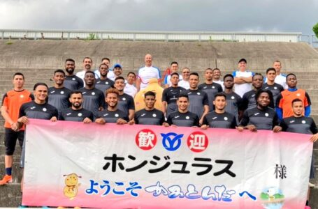 Selección Olímpica de Honduras es muy bien recibida en la ciudad de Kamitonda, Japón