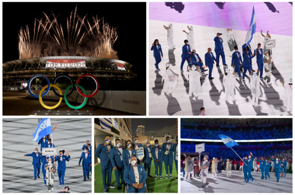 La Bandera de Honduras brilló en la inauguración oficial de los Juegos Olímpicos de Tokio