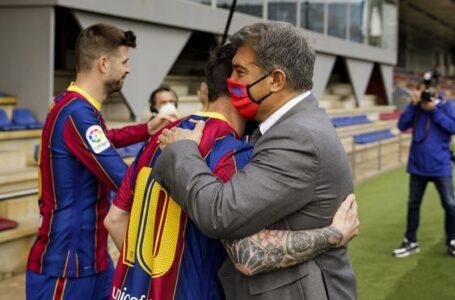 Laporta explicará este viernes el adiós de Messi del Barcelona