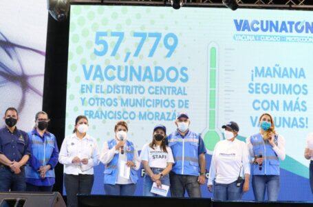 """""""Vacunatón"""" llega a casi 60.000 inoculados y superó la meta en su primer día"""