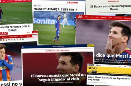 Conmoción en el mundo deportivo tras salida de Lionel Messi del Barcelona