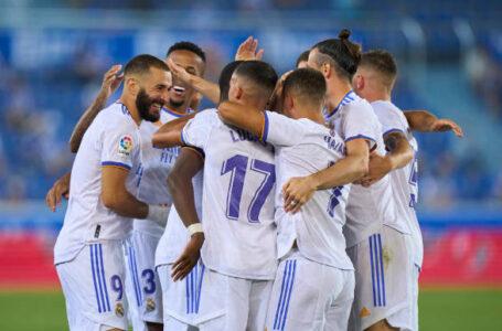 Real Madrid venció por goleada al Alavés en el inicio de LaLiga