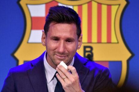 «Esto es muy difícil»: Messi le dijo adiós al Barcelona entre llanto y pesar