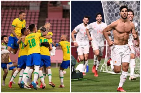 Brasil y España pelearán por el oro en fútbol masculino tras eliminar a México y Japón
