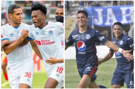 Olimpia y Motagua golean en su debut en el torneo Apertura de la Liga Nacional