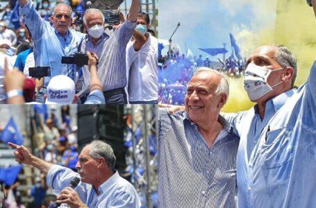 Oliva y Asfura sellan unidad del PN desde el sur del país previo a las elecciones