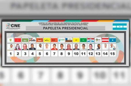 CNE define posiciones de los candidatos presidenciales en las papeletas electorales
