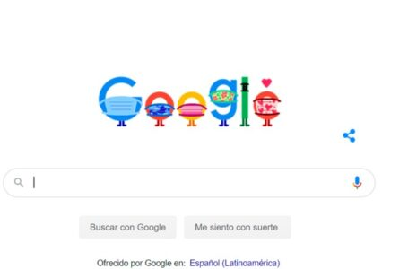 Nuevo doodle de Google usa tapabocas y recomienda ubicaciones de vacunación