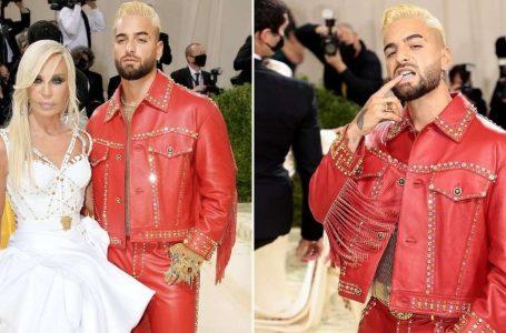Maluma fue protagonista en la Met Gala con cambio de look y junto a Donatella Versace