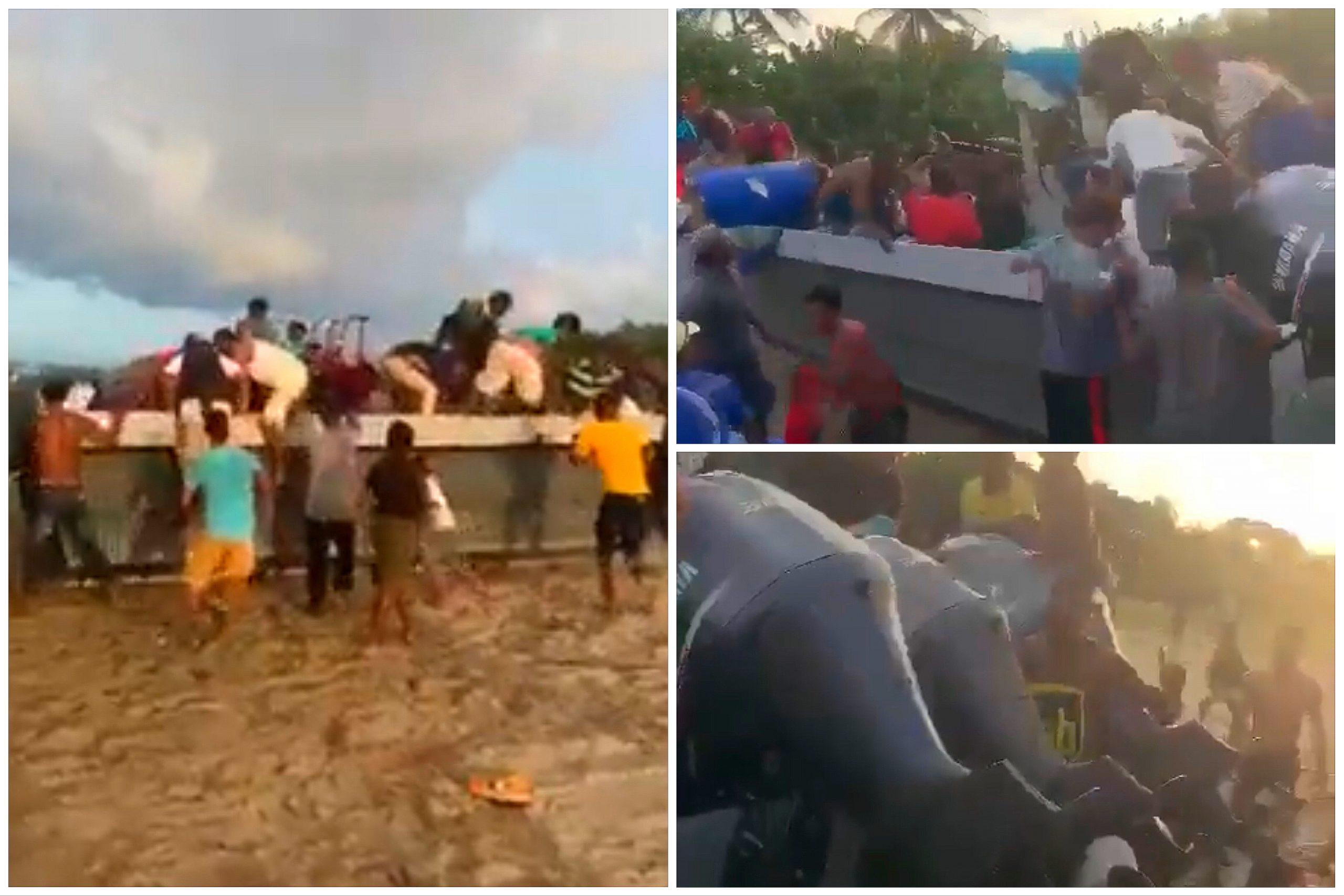 "Misquitos saquean ""narcolancha"" incautada tras enfrentamiento en Gracias a Dios"