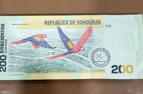 El billete de L. 200 ya está en bancos, dispensadores y cajeros automáticos