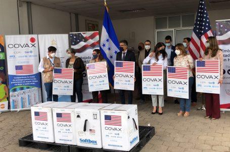 Honduras recibe 81 mil 900 vacunas Pfizer donadas por EE.UU.