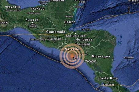 Sismo de 6.5 de magnitud se registra en costas de Nicaragua